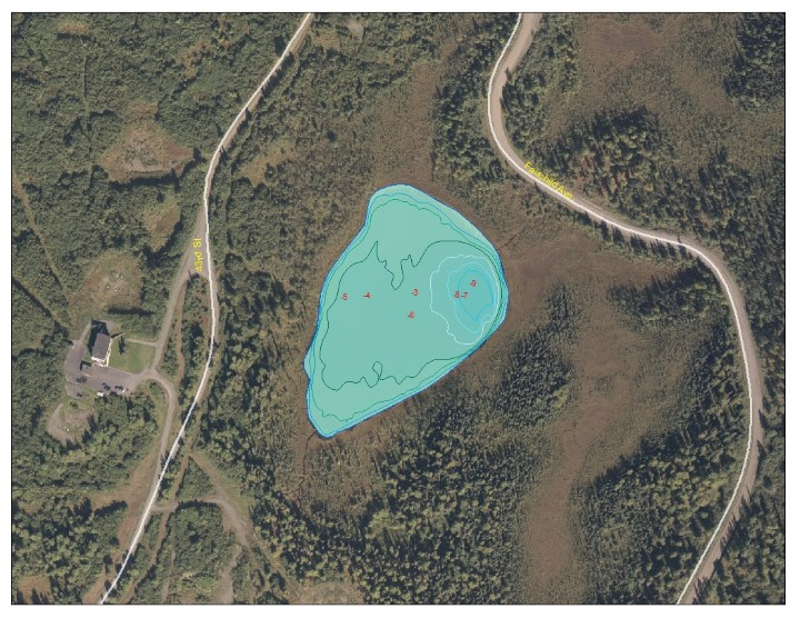 Bathymetric Map of Spring Lake