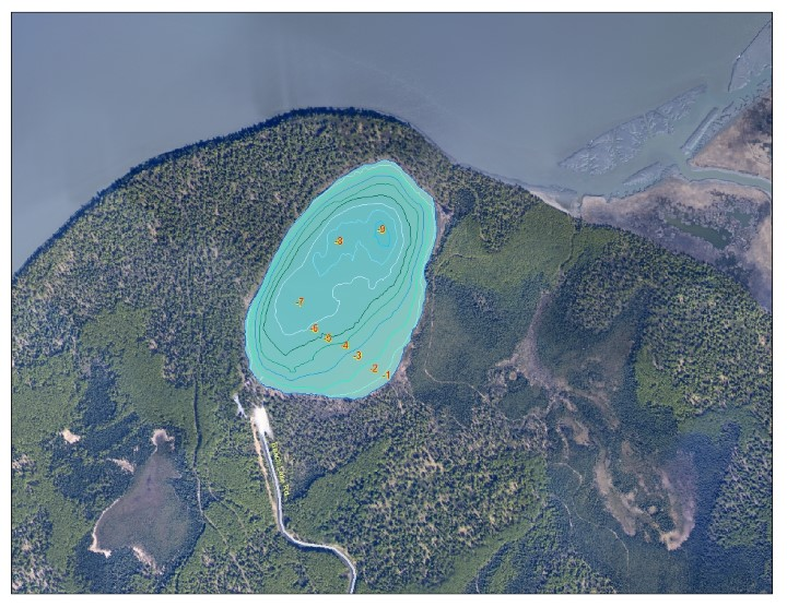 Bathymetric Map of Beach Lake
