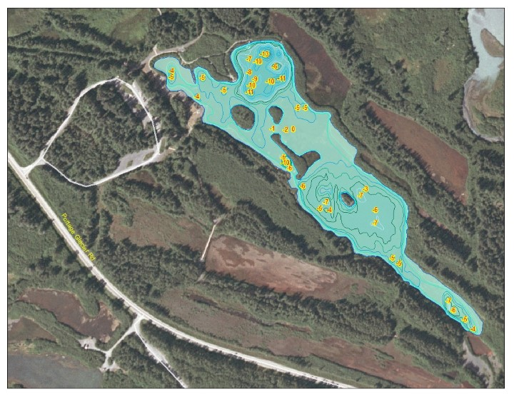 Bathymetric Map of Airstrip Pond