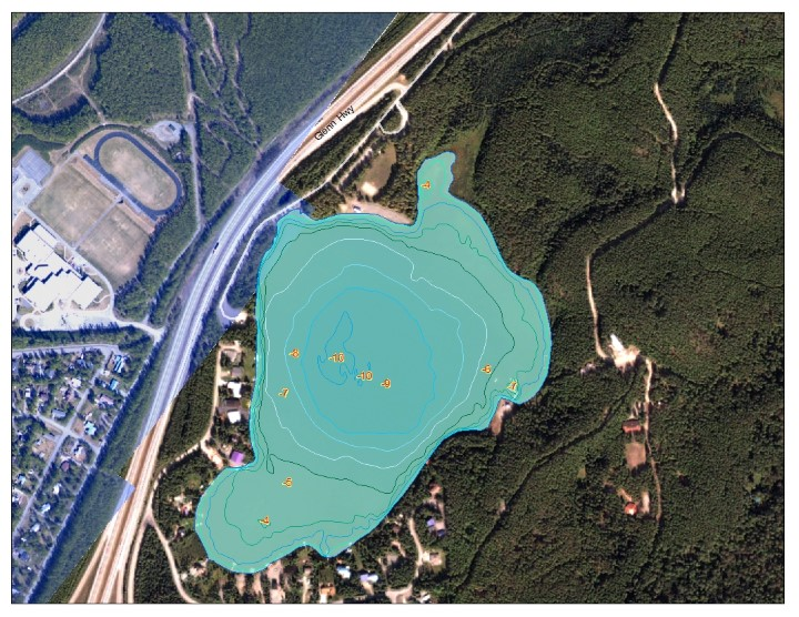 Bathymetric Map of Mirror Lake (Anchorage)