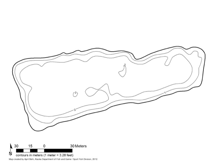 Bathymetric Map of Johnson Pit #2