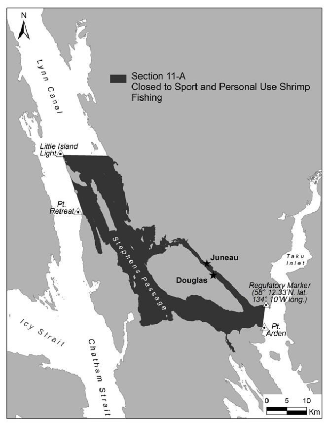 Juneau Area Section 11-A Remains Closed To Sport And Personal Use Pot Shrimp Fishing In 2019