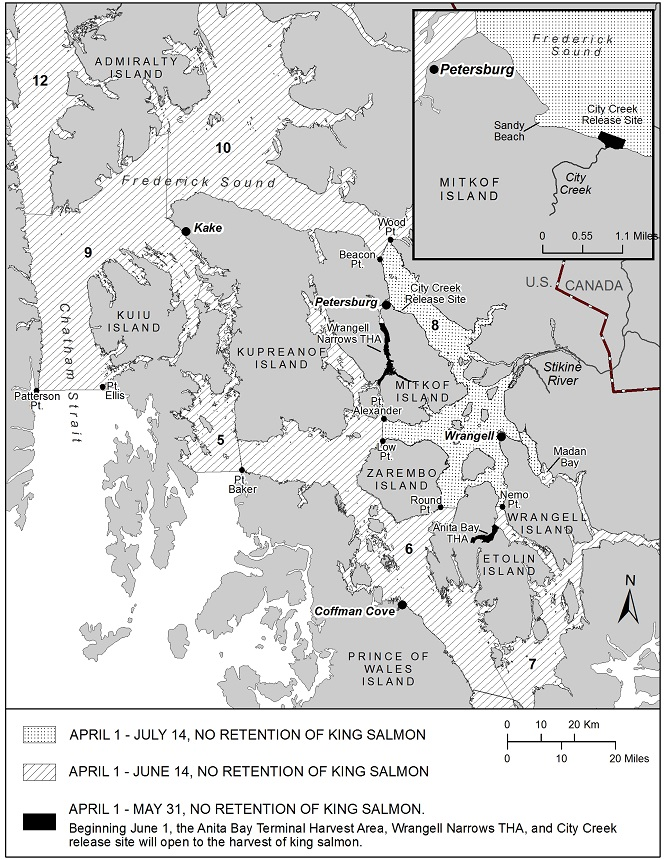 SPORT FISHING FOR KING SALMON RESTRICTED IN THE PETERSBURG AND WRANGELL AREAS