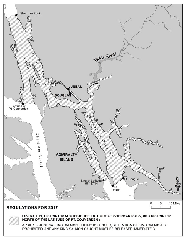 2017 KING SALMON SPORT FISHING REGULATIONS FOR JUNEAU AREA MARINE WATERS