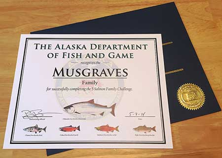 Family fishing with the salmon challenge alaska for Alaska department of fish and game