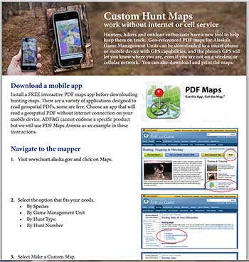Interactive Maps for Hunters, Alaska Department of Fish and Game