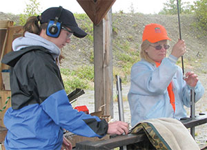 Muzzle loader training range scene