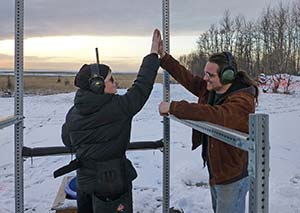 High five at Rabbit Creek