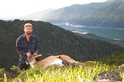 Neil with a deer