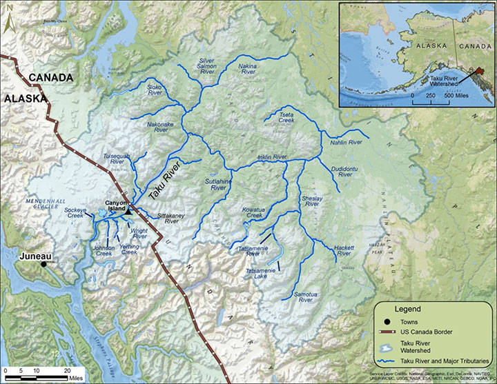 20 Mile River Alaska Map.Chinook Stock Assessment Research Project Taku River Alaska