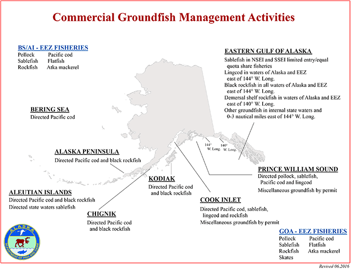Groundfish Management Activities map graphic