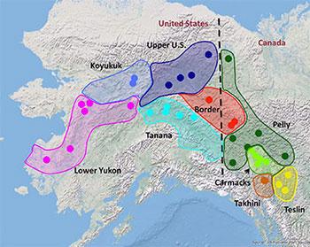 Gene Conservation Laboratory Yukon River Chinook Salmon MSA - Yukon river map