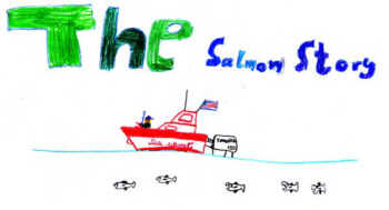 The salmon story drawing