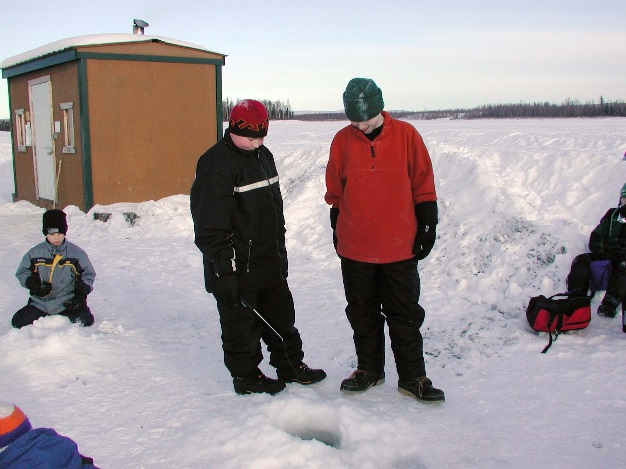 Chena Lake Ice Fishing