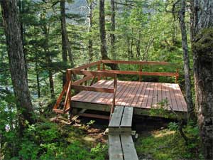 Lake Bay tent platform & Prince William Sound - Southcentral Recreational Boating Access ...