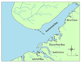 map of Kachemak Bay