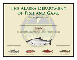5 Salmon Family certificate