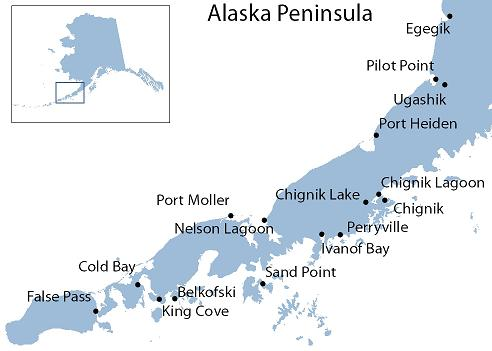 Alaska Peninsula access map
