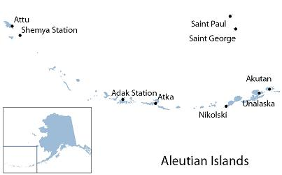 Aleutian Islands access map graphic