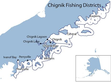 Chignik fishing district map