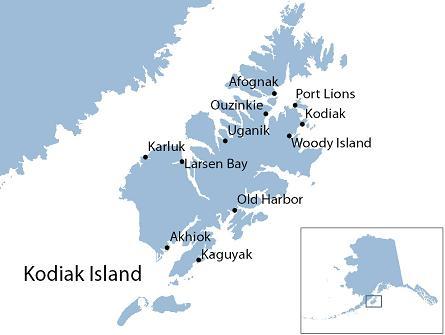 Kodiak Island Alaska Map.Access Info Subsistence Fishing For Kodiak Island Area Alaska