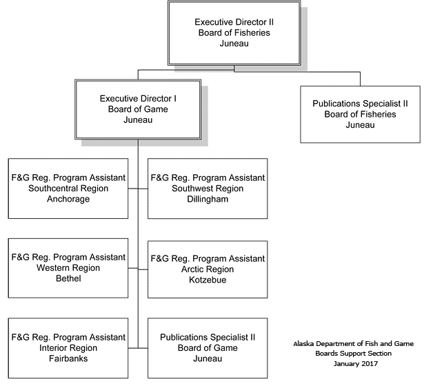 General Organizational Chart of Boards Support Section