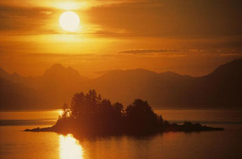 Southeast Alaska sunset