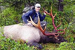 Photo of a successful Elk hunter.