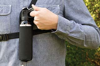 Bear spray in chest holder