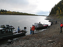 Ella's Cabin Checkpoint on the Koyukuk River