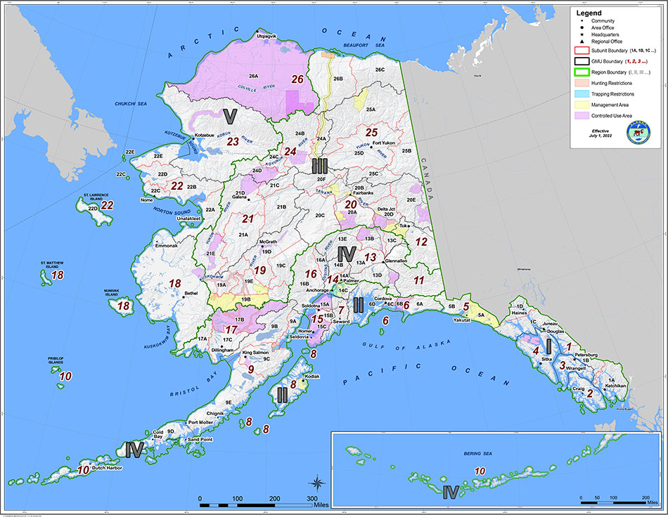 Alaska GMU Maps Alaska Department of Fish and Game – Alaska Travel Map