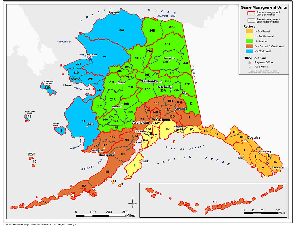 Alaska GMU Maps Alaska Department Of Fish And Game - Alaska maps