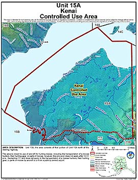Map of Kenai Controlled Use Area