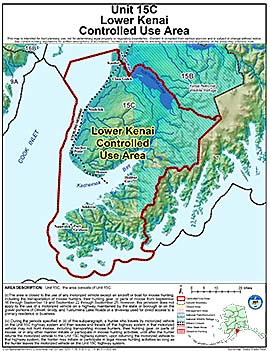 Map of Lower Kenai Controlled Use Area