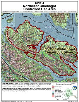 Map of Northeast Chichagof Controlled Use Area