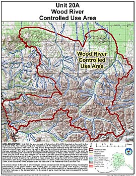 Map of Wood River Controlled Use Area