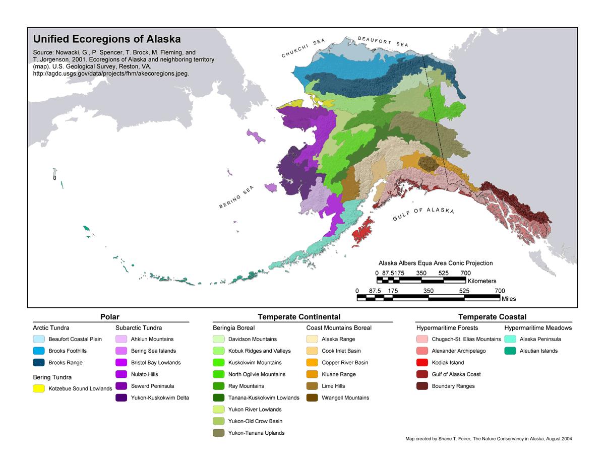 Alaska S 32 Ecoregions Alaska Department Of Fish And Game