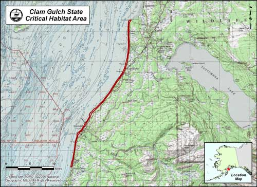 map of Clam Gulch