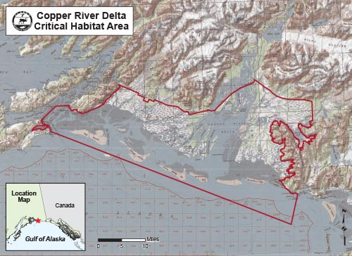 map of Copper River Delta