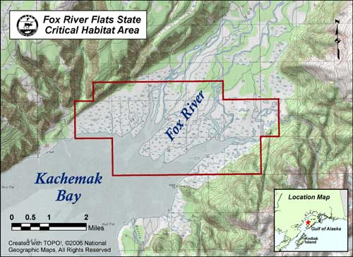 map of Fox River Flats
