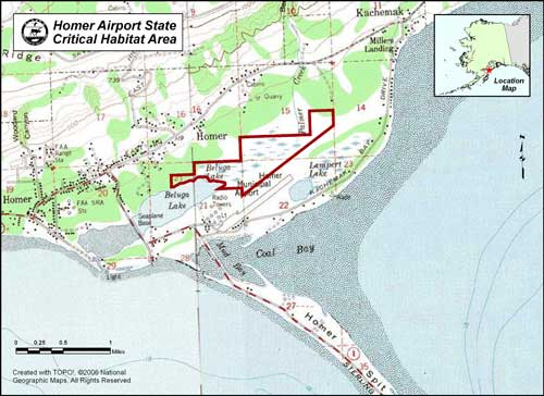 map of Homer Airport