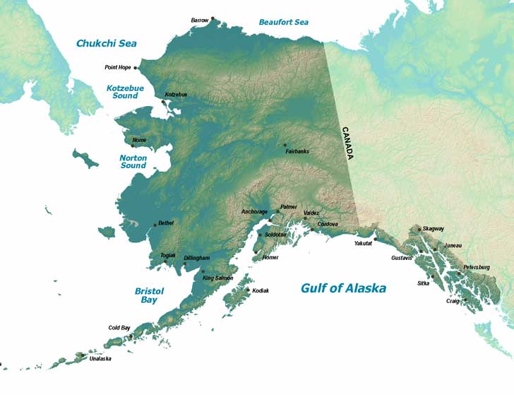 map of alaska showing special areas