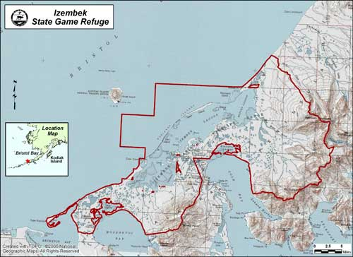 map of Izembek