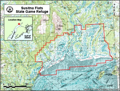 map of Susitna Flats