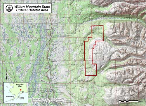 map of Willow Mountain