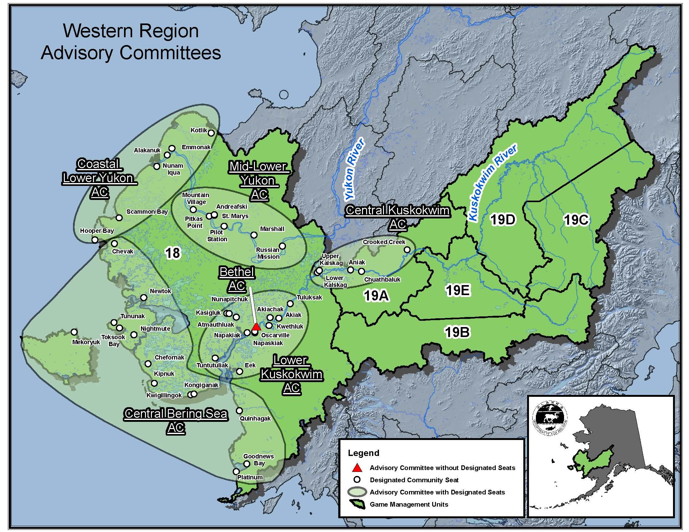 View Map of Western Region Advisory