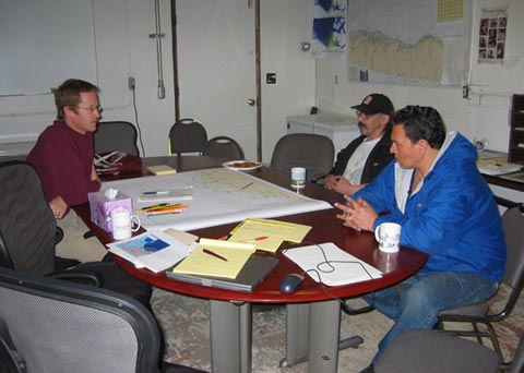 Henry Huntington interviewing subsistence hunters in Kaktovik and Barrow.