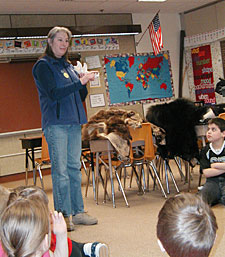 learning about wildlife in the classroom