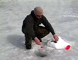 ice fishing for pike
