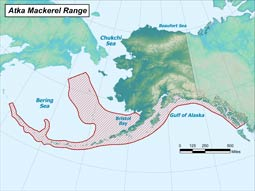 Atka Mackerel range map